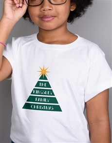 gifts: Personalised Family Tree Kids White T Shirt!