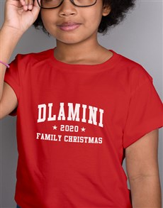 gifts: Personalised Name Family Christmas Kids T Shirt!