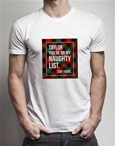 gifts: Personalised My Naughty List T Shirt!