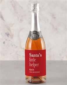 gifts: Personalised Santas Helper Rietvallei Wine!