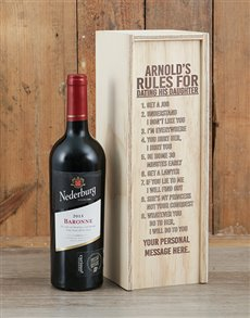 gifts: Personalised Rules Wine Crate!