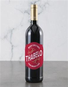 gifts: Personalised Merry Christmas Backsberg Wine!