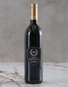 gifts: Personalised Anniversary Digits Backsberg Wine!