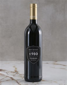 gifts: Personalised Birthday Year Backsberg Wine!