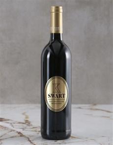 gifts: Personalised Modern Monogram Backsberg Wine!