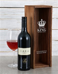 gifts: Personalised King Of Our Castle Wine Crate!