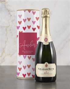 gifts: Personalised Hearts Bubbly Tube!