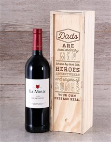 gifts: Personalised Dads Wine Crate!