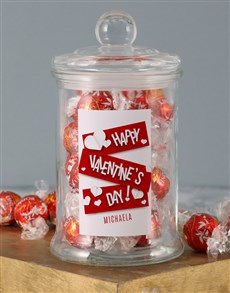 gifts: Personalised V Day Lindt Jar!