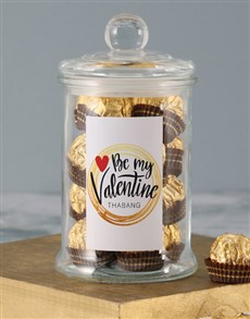 gifts: Personalised Be Mine Ferrero Jar!