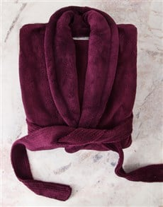 gifts: Personalised Purple Gown and Pamper Set!