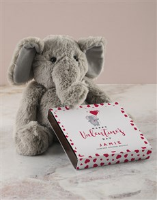 gifts: Personalised Chocolate Tray with Elephant Toy!