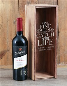 gifts: Personalised Catch Of His Life Wine Crate!