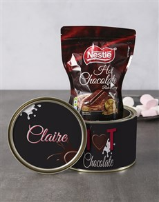 gifts: Personalised Love You Hot Choc Tin!