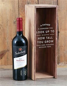 gifts: Personalised Look Up To Wine Crate!