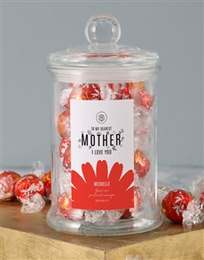 gifts: Personalised Dearest Mother Lindt Jar!