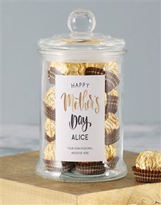 gifts: Personalised Ferrero Rocher Mothers Day Jar!