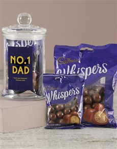 gifts: Personalised No 1 Dad Candy Jar!