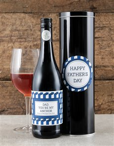 gifts: Personalised Dad My Anchor Wine Tin!