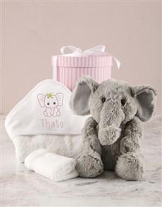 gifts: Personalised Pink Ellie Baby Hooded Towel!