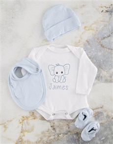 gifts: Personalised Blue Ellie Baby Clothing!