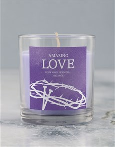 gifts: Personalised Amazing Love Lenten Candle!