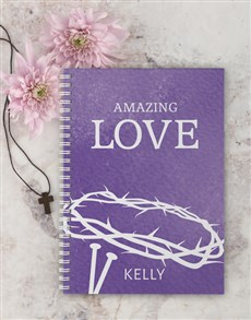 gifts: Personalised Amazing Love Easter Notebook!