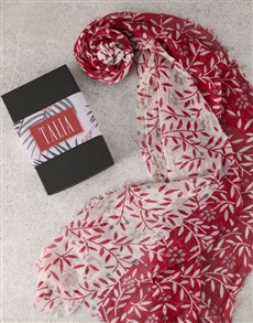 gifts: Personalised Bright Scarf in Box!