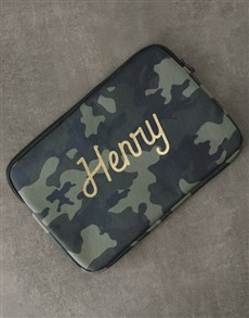 gifts: Personalised Camouflage Laptop Sleeve!