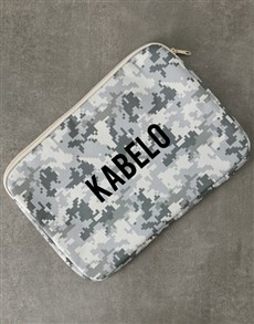 gifts: Personalised Army Laptop Sleeve!