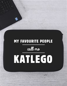 gifts: Personalised Favourite People Laptop Sleeve!
