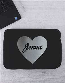 gifts: Personalised Heart Laptop Sleeve!