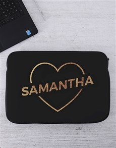 gifts: Personalised Love Laptop Sleeve!
