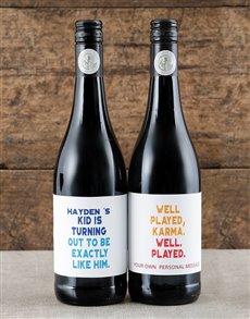 gifts: Personalised Karma Wine Duo!