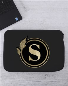 gifts: Personalised Initial Laptop Sleeve!