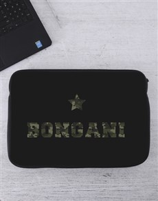 gifts: Personalised Camo Laptop Sleeve!
