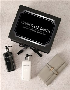 gifts: Personalised Grey Purse And Charlotte Rhys Hamper!