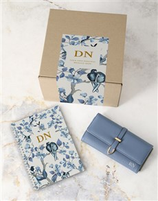 gifts: Personalised Blue Purse And Notebook!