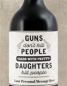 gifts: Personalised Pretty Daughters Wine!