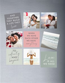 gifts: Personalised Neutral Colour Magnets!