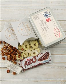 gifts: Personalised Post Card Snack Tin!