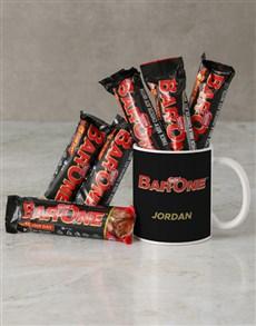 gifts: Personalised Bar One Mug Hamper!