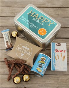 gifts: Personalised Happy Birthday Snack Tin!