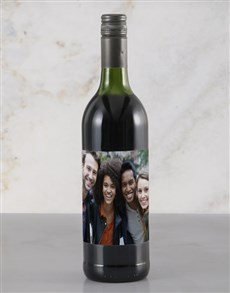 gifts: Personalised Photo Red Wine!
