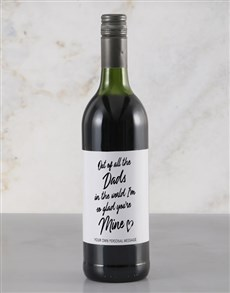 gifts: Personalised Of All The Dads Red Wine!