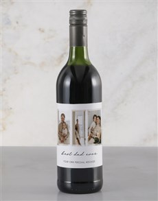 gifts: Personalised Best Dad Ever Red Wine!