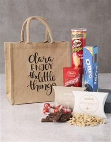 gifts: Personalised Snacks Hessian Bag!