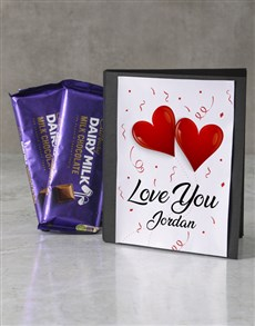 gifts: Personalised Love You Cadbury Card!