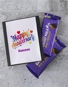 gifts: Personalised Anniversary Cadbury Card!