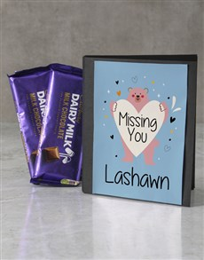 gifts: Personalised Miss You Cadbury Card!